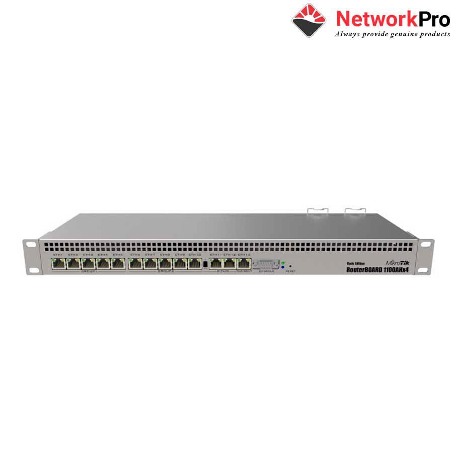 Thiết bị Router Mikrotik RB1100AHx4, 13 cổng mạng Gigabit