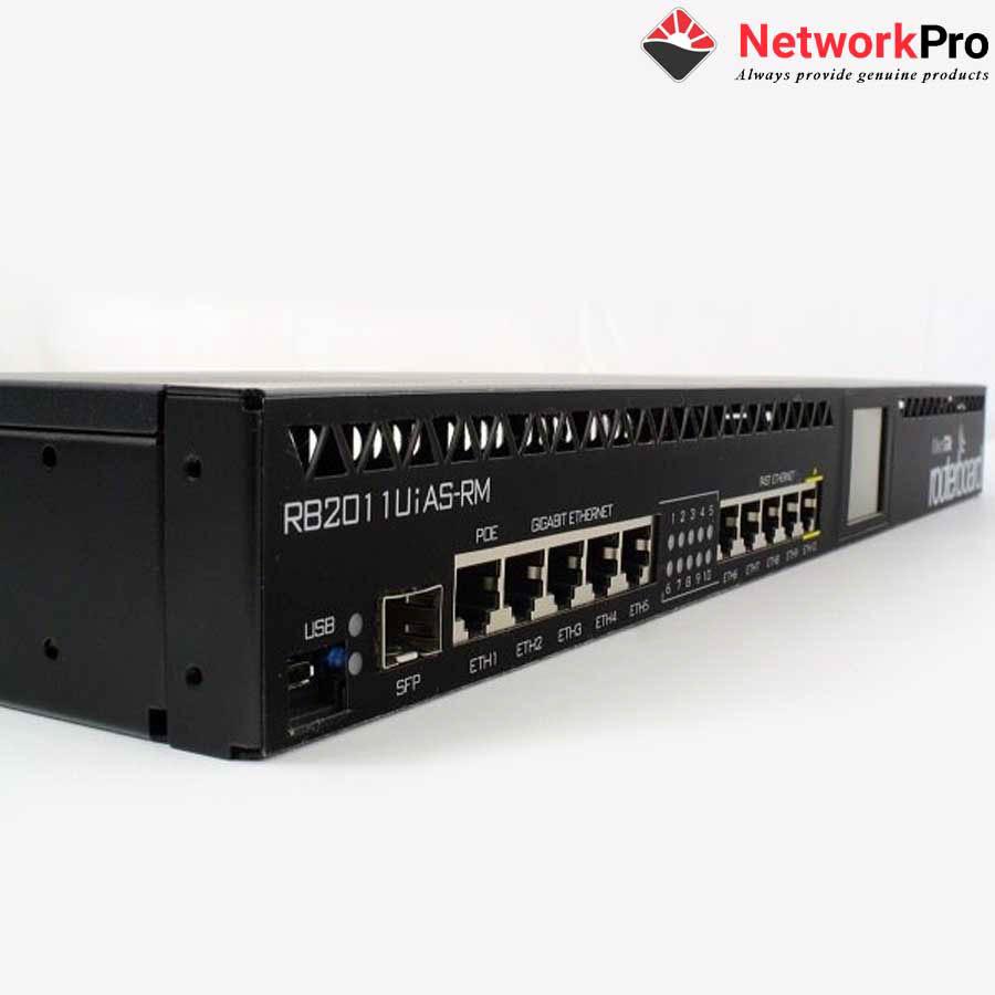 Thiết bị Router Mikrotik RB2011UiAS-RM - Hàng chính hãng