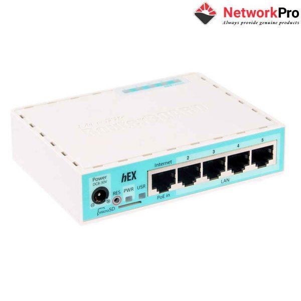 Thiết bị cân bằng tải Router Mikrotik hEX RB750GR3 - Ne