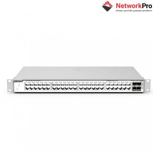 Model, RG-NBS5200-48GT4XS. Fixed ports, 48 10/100/1000Base-T ports, 4 SFP+ 10GBase-X ports, fixed single AC power supply. Switching capacity, 336Gbps.