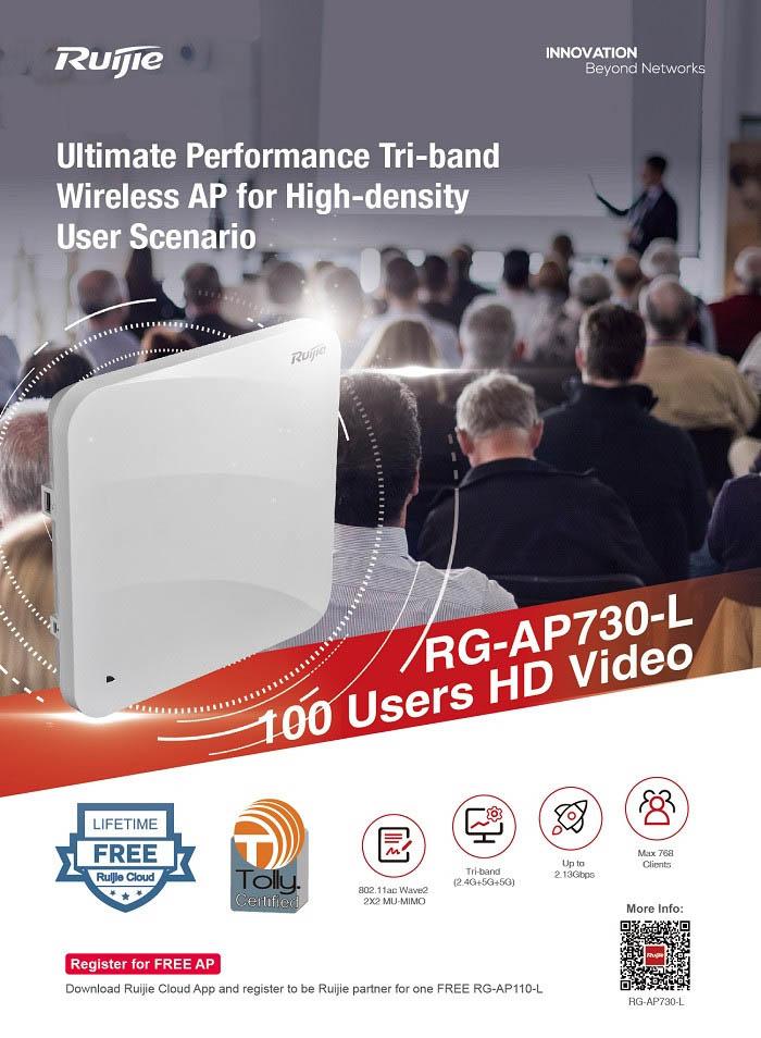 Thiết bị phát sóng wifi trong nhà RUIJIE RG-AP730-L