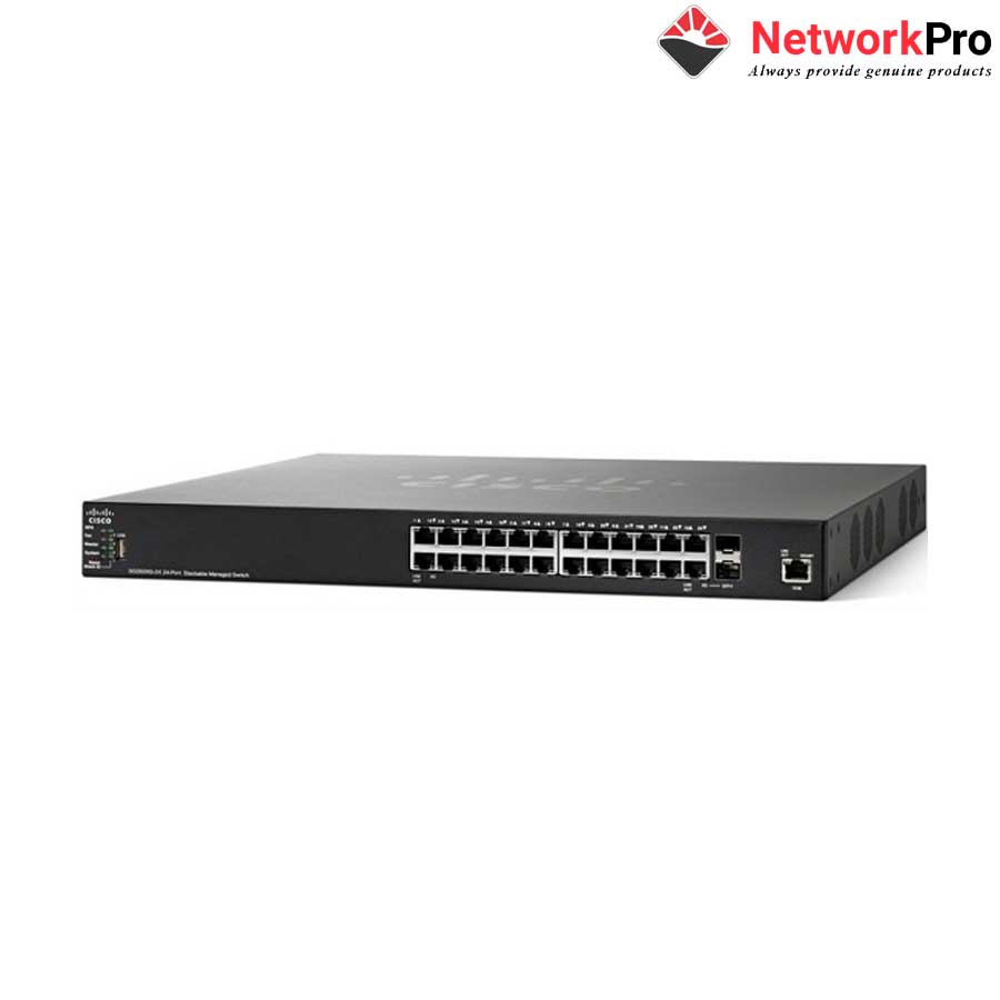 Thiết bị chia mạng Cisco SF350-24-K9-EU Managed Switch