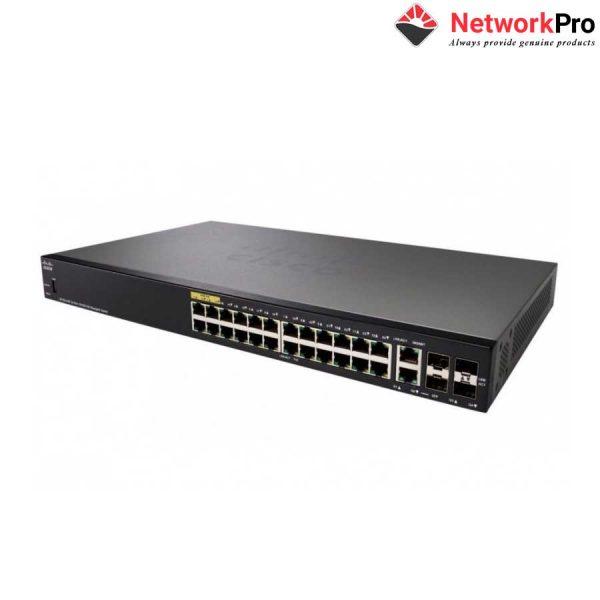 Thiết bị chia mạng Cisco SF350-24-K9-EU Managed Switch - NetworkPro.vn