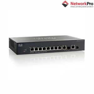 Thiết bị mạng Switch Cisco SG350-10 SMB 350 Series 8 Ports 10/100/1000, 2 combo mini-GBIC Ports