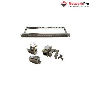 Khung Patch panel 24 Port 1U CAT.6A STP Snap-in DINTEK - NetworkPro