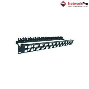 Khung Patch panel 24 Port rỗng Dintek CAT6A 19 inch - NetworkPro
